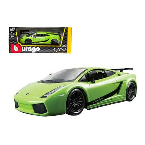 Lamborghini Gallardo Superleggera Green 1/24 Diecast Car Model by Bburago