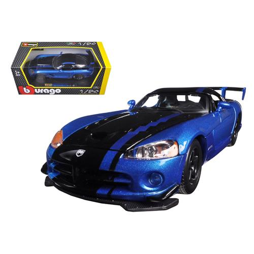 Dodge Viper SRT/10 ACR Blue/Black 1/24 Diecast Model Car by Bburago