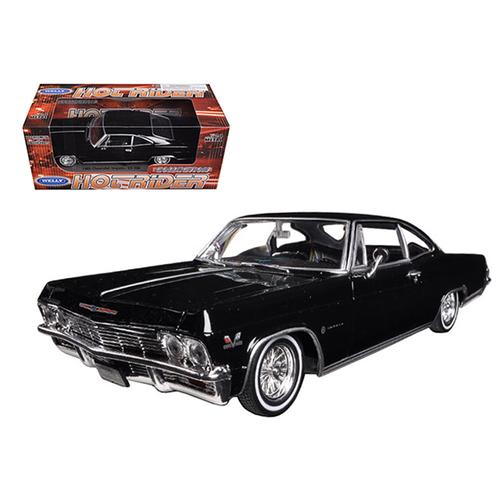 1965 Chevrolet Impala Black Low Rider 1/24 Diecast Model Car by Welly