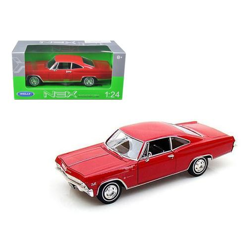 1965 Chevrolet Impala SS 396 Red 1/24 Diecast Car Model by Welly