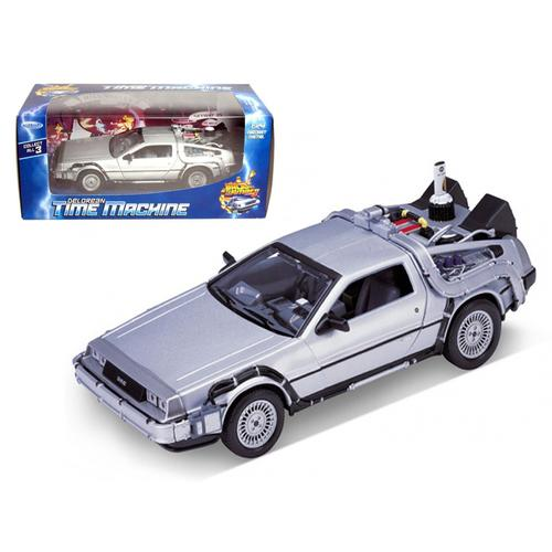 "Delorean From Movie ""Back To The Future 2"" 1/24 Diecast Car by Welly"