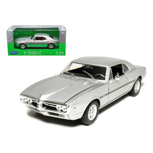 1967 Pontiac Firebird Silver 1/24 Diecast Car Model by Welly