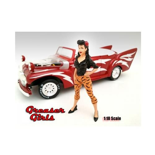 Greaser Girl Danika Figure For 1:18 Scale Diecast Model Cars by American Diorama