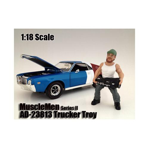"Musclemen ""Trucker Troy"" Figure For 1:18 Scale Models by American Diorama"