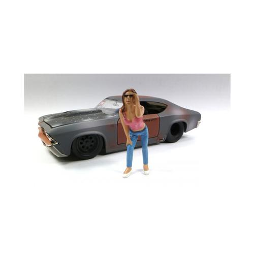 Look Out Girl Erika Figure For 1:24 Scale Diecast Car Models by American Diorama
