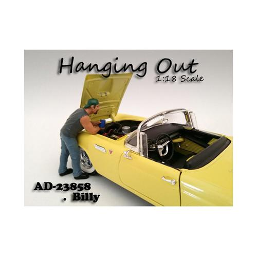 """Hanging Out"" Billy Figure For 1:18 Scale Models by American Diorama"
