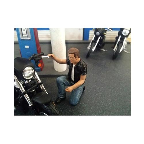 Biker Motorman Figure For 1:18 Scale Models by American Diorama