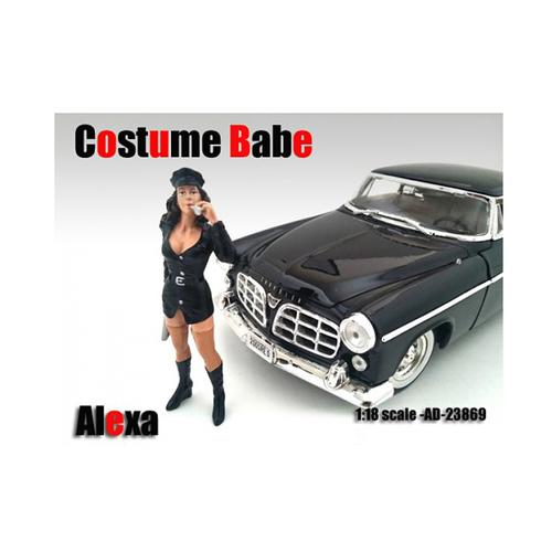 Costume Babe Alexa Figure For 1:18 Scale Models by American Diorama
