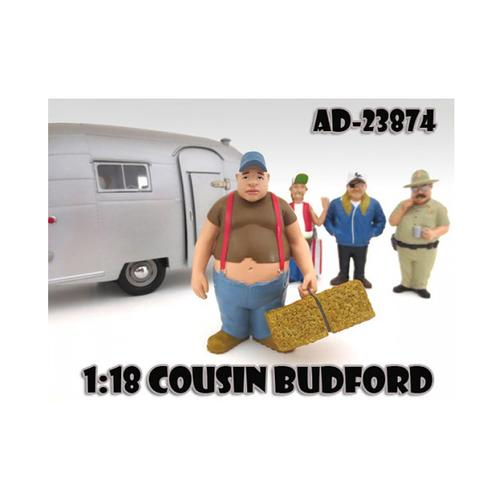 "Cousin Budford ""Trailer Park"" Figure For 1:18 Scale Diecast Model Cars by American Diorama"