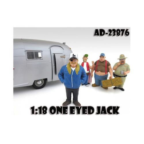 "One Eyed Jack ""Trailer Park"" Figure For 1:18 Scale Diecast Model Cars by American Diorama"