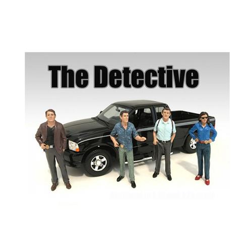 """The Detectives"" 4 Piece Figure Set For 1:18 Scale Models by American Diorama"