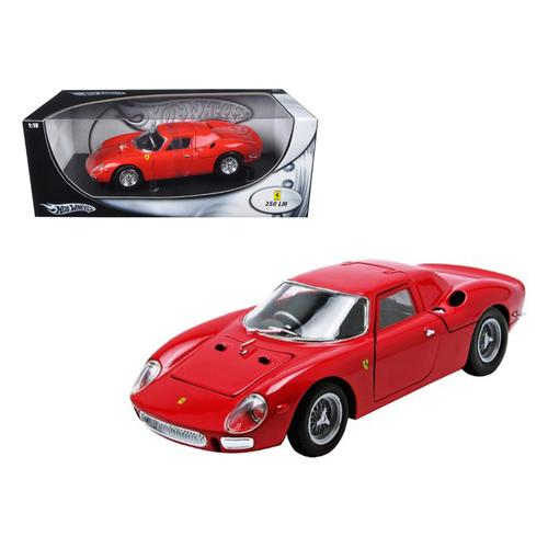 Ferrari 250 LM Red 1/18 Diecast Car Model by Hotwheels