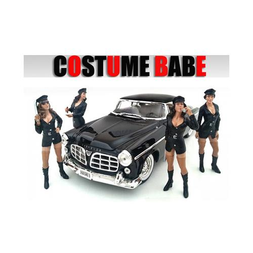 """Costume Babes"" 4 Piece Figure Set For 1:24 Scale Models by American Diorama"