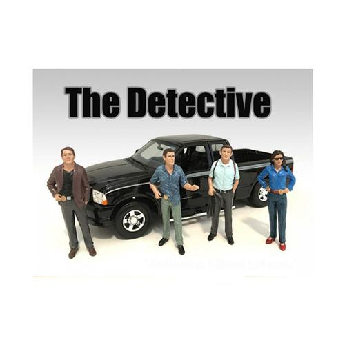 """The Detective"" 4 Piece Figure Set For 1:24 Scale Models by American Diorama"