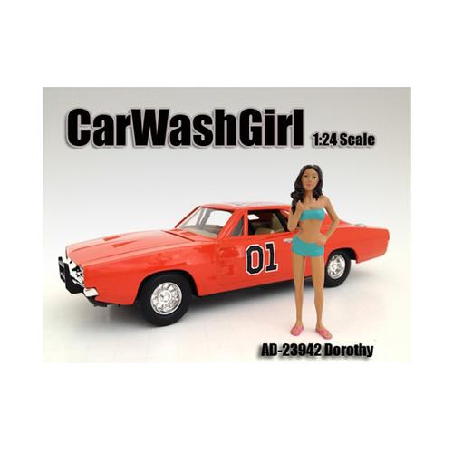 Car Wash Girl Dorothy Figure For 1:24 Scale Models by American Diorama