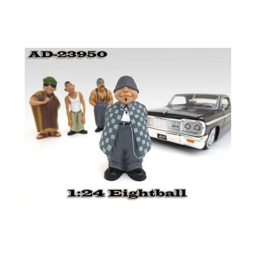 "Eightball ""Homies"" Figure For 1:24 Scale Diecast Model Cars by American Diorama"