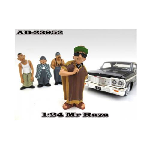 "Mr. Raza ""Homies"" Figure For 1:24 Scale Diecast Model Cars by American Diorama"