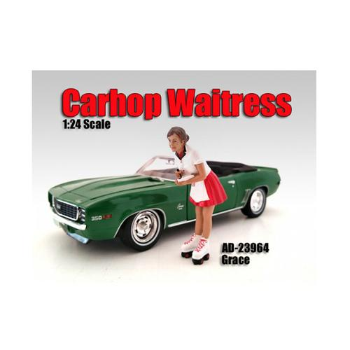 Carhop Waitress Grace Figure For 1:24 Scale Models by American Diorama