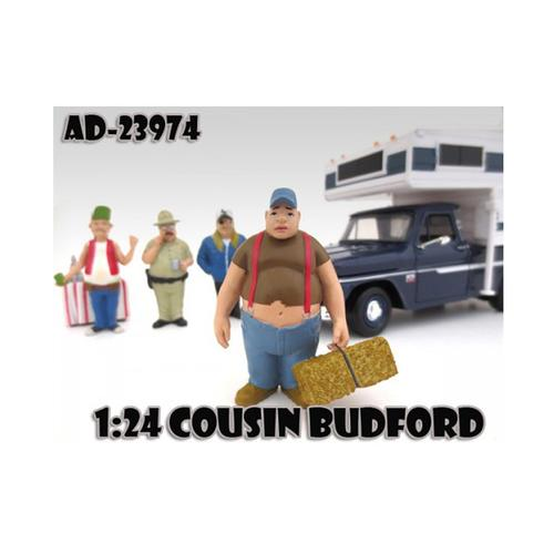 "Cousin Budford ""Trailer Park"" Figure For 1:24 Scale Diecast Model Cars by American Diorama"