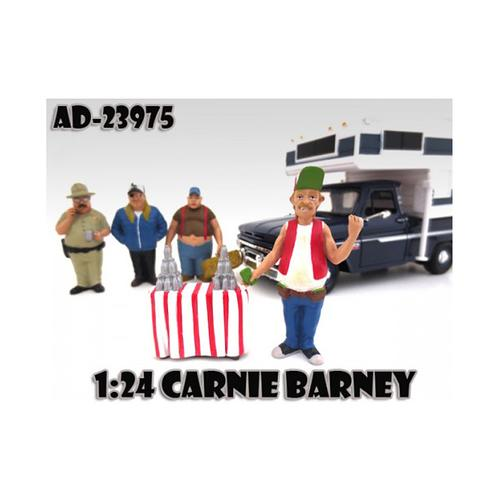 "Carnie Barney ""Trailer Park"" Figure For 1:24 Scale Diecast Model Cars by American Diorama"
