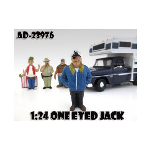 "One Eyed Jack ""Trailer Park"" Figure For 1:24 Diecast Model Cars by American Diorama"