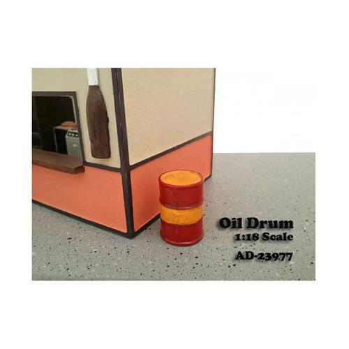 Oil Drum Accessory Set of 2 For 1:18 Scale Models by American Diorama