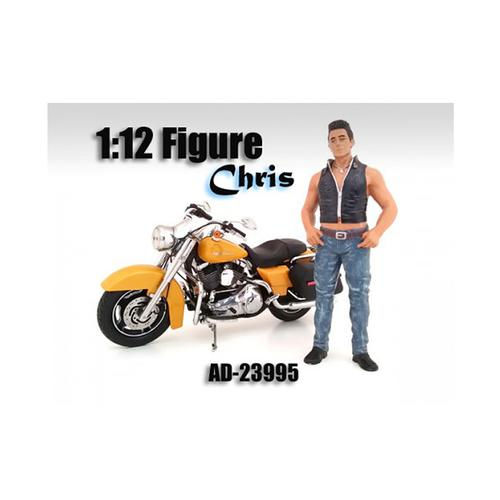 Biker Chris Figure For 1:12 Scale Motorcycles by American Diorama