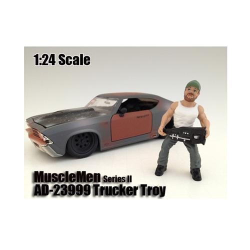 "Musclemen ""Trucker Troy"" Figure For 1:24 Scale Models by American Diorama"