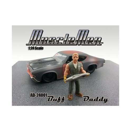 Musclemen Buff Daddy Figure For 1:24 Diecast Model Car by American Diorama