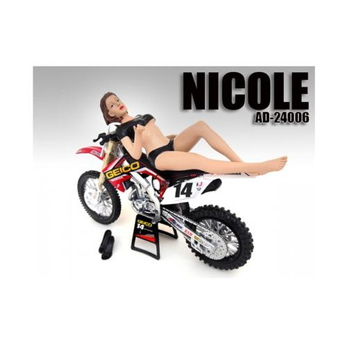 Model Nicole Figure / Figurine For 1:12 Scale Motorcycles by American Diorama