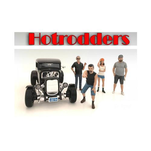 """Hotrodders"" 4 Piece Figure Set For 1:18 Scale Models by American Diorama"