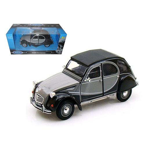 Citroen 2CV 6 Charleston Grey 1/24 Diecast Car Model by Welly
