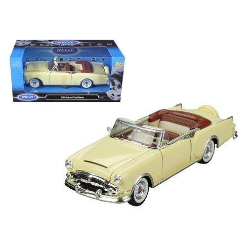 1953 Packard Caribbean Convertible Cream 1/24 Diecast Car Model by Welly
