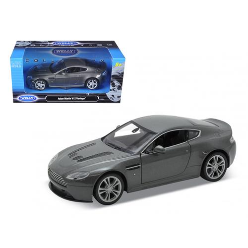 2010 Aston Martin V12 Vantage Grey 1/24 Diecast Model Car by Welly