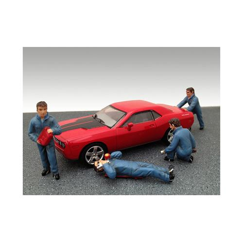 Mechanics 4 Figure Set For 1:43 Diecast Model Cars by American Diorama