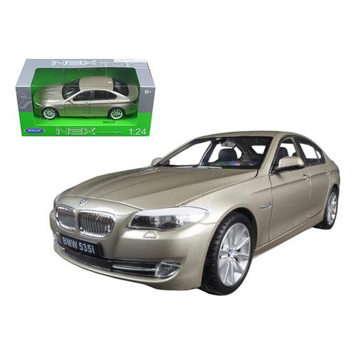2010 BMW (F10) 535i 5 Series Gold 1/24 Diecast Model Car by Welly