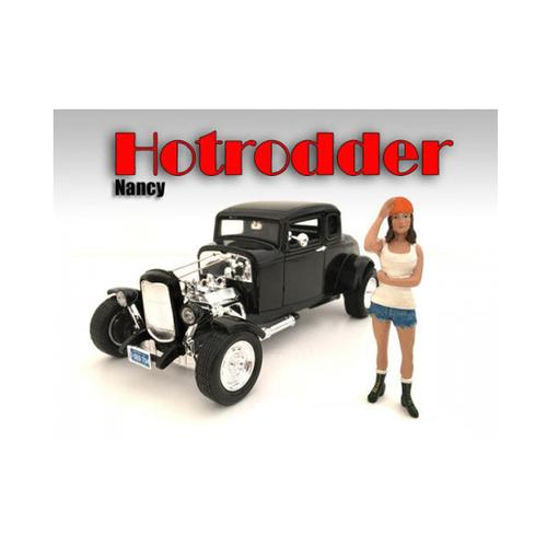 """Hotrodders"" Nancy Figure For 1:24 Scale Models by American Diorama"