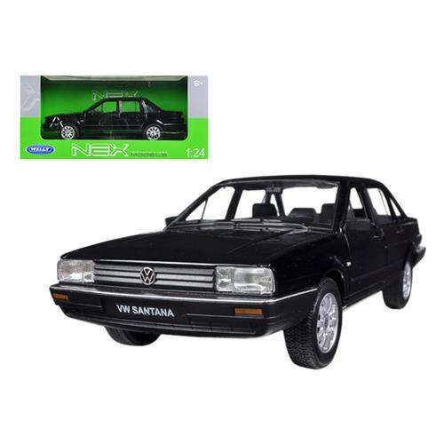 Volkswagen Santana Black 1/24 Diecast Car Model by Welly