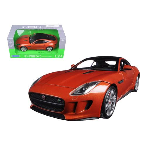 2015 Jaguar F-Type Orange 1/24 Diecast Model Car by Welly