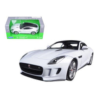 2015 Jaguar F-Type White 1/24 Diecast Model Car by Welly