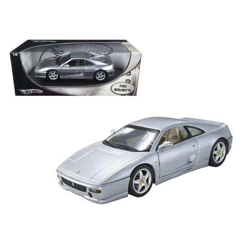 Ferrari F355 Berlinetta Silver 1/18 Diecast Model Car by Hotwheels