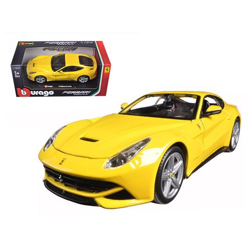 Ferrari F12 Berlinetta Yellow 1/24 Diecast Model Car by Bburago