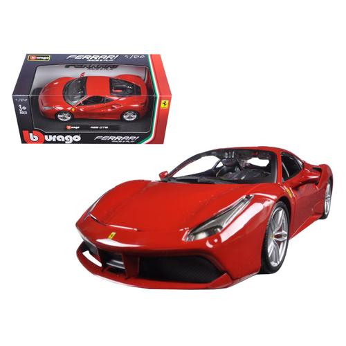 Ferrari 488 GTB Red 1/24 Diecast Model Car by Bburago