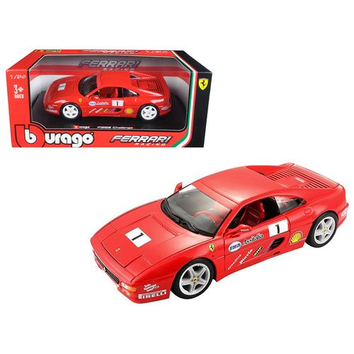 Ferrari F355 Challenge Red 1/24 Diecast Model Car by Bburago