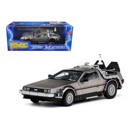 "Delorean Time Machine From ""Back To The Future II"" Movie 1/18 Diecast Model Car by Sunstar"