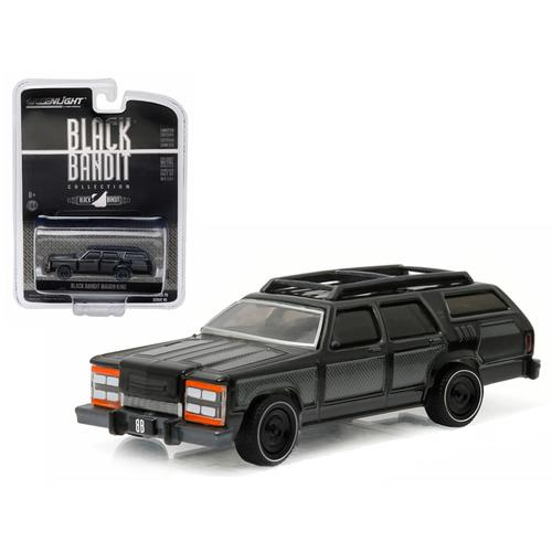 Black Bandit Wagon King 1/64 Diecast Model Car by Greenlight
