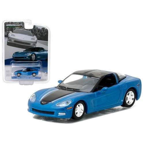 2012 Chevrolet Corvette C6 Supersonic Blue General Motors Collection Series 1 1/64 Diecast Model Car  by Greenlight