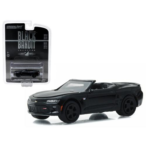 2017 Chevrolet Camaro Convertible Black Bandit 1/64 Diecast Model Car  by Greenlight