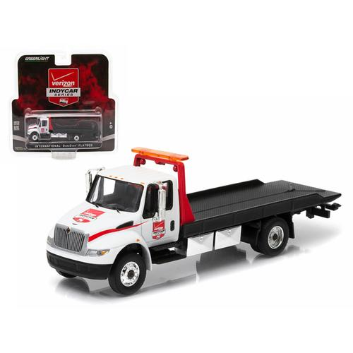2015 International Durastar 4400 Verizon Indy Car Series Flatbed Tow Truck 1/64 Diecast Model Car by Greenlight