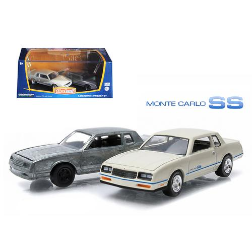 First Cut 1981-84 Chevrolet Monte Carlo SS Hobby Only Exclusive 2 Cars Set 1/64 Diecast Model Cars by Greenlight